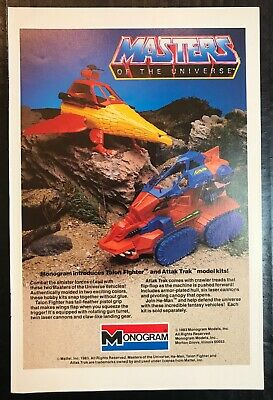 HE-MAN Masters of the Universe Monogram Toys Models Print Ad Advertisement 1983