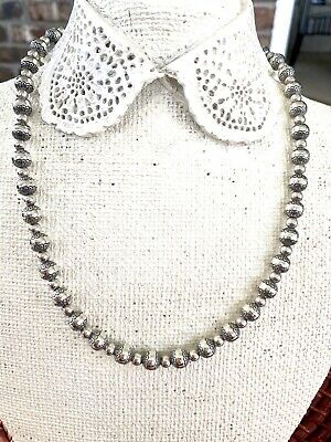 """Carolyn Pollack Sterling Silver Concha 22"""" Bead Necklace"""