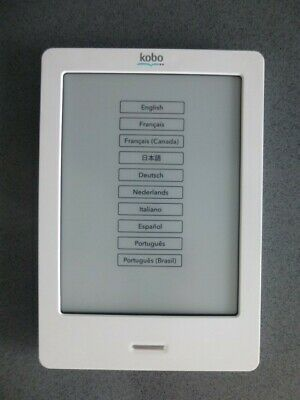 KOBO TOUCH e-reader. White. N905 2GB. Case & charger bundle.