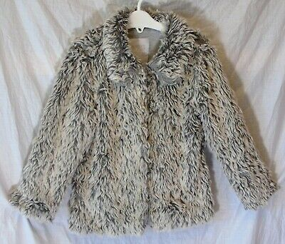 Girls TU Grey Mix Faux Fur Collared Cotton Lined Warm Coat Age 4-5 Years