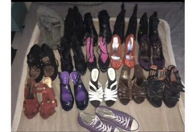 joblot shoes 16 Pairs Including Office, River Island And Converse All Size 7