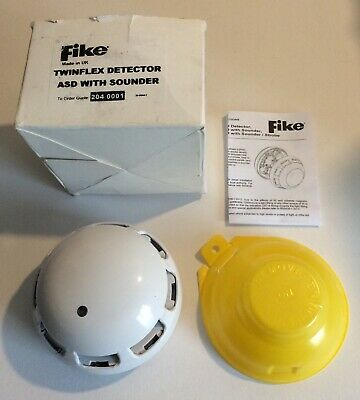 Fike Twinflex Fire Alarm Smoke Detector Asd With Sounder 204-0001