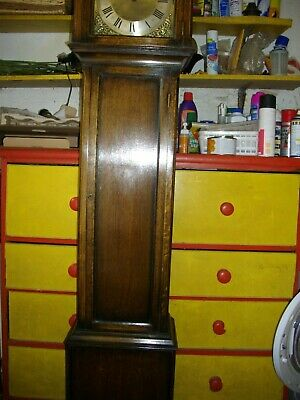 Westminster chime weight driven grandmother clock. Lovely& working order ca 1920