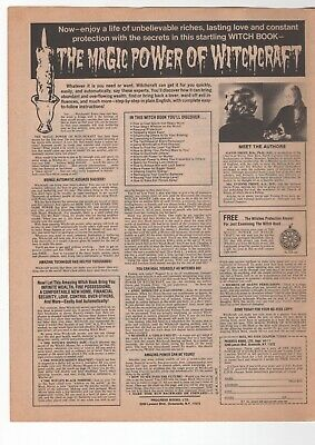 1980 Vintage Print Ad The Magic Power Of Witchcraft Witch Book Order Form Page