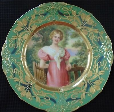 Royal Vienna Porcelain Portrait Plate, Excellent, Rare