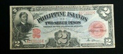 1906 2 Silver Pesos Phillipine Islands