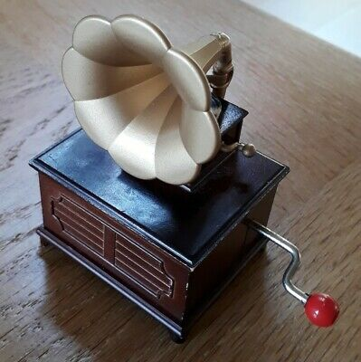 Sylvanian Families Brown Furniture Gramaphone Record play phonograph musical box