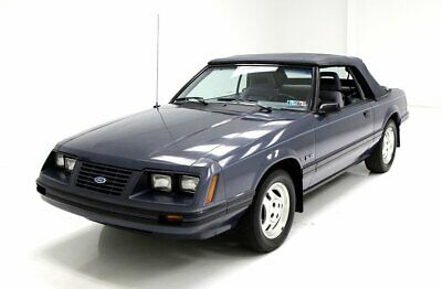 1984 Ford Mustang LX Convertible 33K Original Miles Overall Very Good Condition Dark Academy Blue 5.0 Liter V8