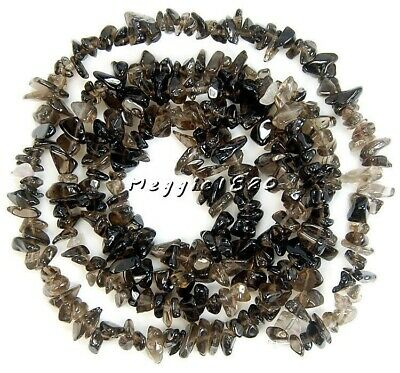 6-8mm Natural Smoky Quartz Chips Beads Gemstone Freeform Strands 16""