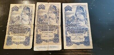 Austria - 10 schilling, dated 1945, lot of three