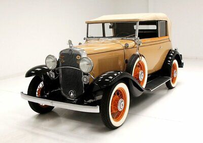 1931 Chevrolet Landau Phaeton Excellent Color Combo Wind Up Windows Fully Optioned 36,542 Actual Miles