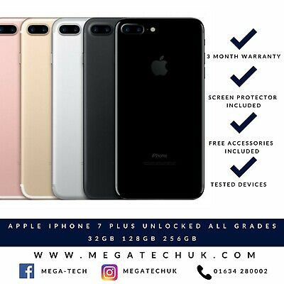 Apple Iphone 7 Plus - Various Colours 32Gb 128Gb 256 Gb Unlocked All Grades