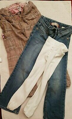 Girls' Jeans, Trousers & Tights Bundle. All H&M. age 5/6 years