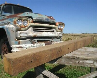 Reclaimed Barn Beam Wood Shelf, Architectural Salvage Fireplace Mantle a72,