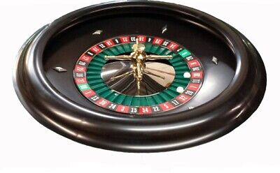 18 Inch Black Molded Bakelite Roulette Wheel Made In USA by ACEM Casino Supplies