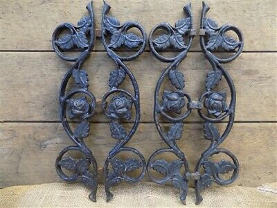 Salvage Rose Fence Panels, New Orleans Architectural Salvage, Vintage Cast Iron,