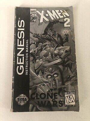 X-Men 2 Clone Wars Sega Genesis Manual Only Authentic Original
