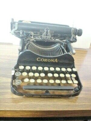 Corona Folding Typewriter No. 3 Early 1904-1910 No Case