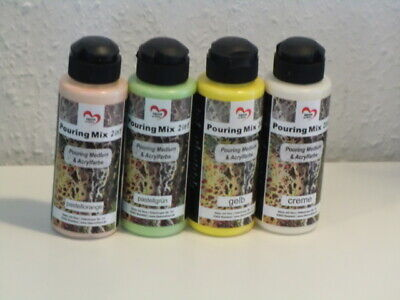Karin Jittenmeier Pouring Mix 2 in 1 Pouring Medium + Acrylfarbe 4 Farben a 120m