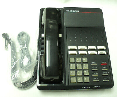 Vodavi SP7311-71 Starplus DHS Charcoal WALL Phone Renewed Warranty Refurbished