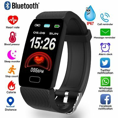 Smart Watch Fitness Tracker Fit Bluetooth Step Calorie Sport Android iPhone