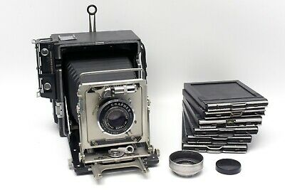 Graflex Speed Graphic 4x5 Polaroid Camera W/ Graflex Optar135mm f4.7
