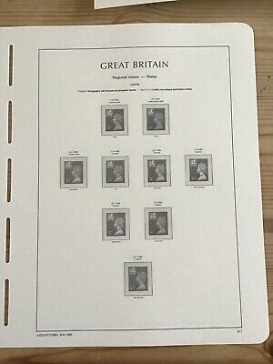 Lighthouse Preprinted Hingeless Stamp Album Pages/ Leaves, GB 1993-96