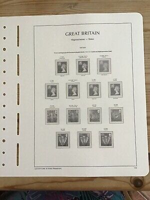 Lighthouse Preprinted Hingeless Stamp Album Pages/ Leaves, GB 1993-2006
