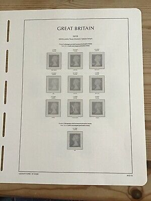 Lighthouse Preprinted Hingeless Stamp Album Pages/ Leaves, GB 2007-2009