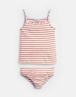 Joules Girls Melody Vest And Pant Set  - CREAM PINK STRIPE Size 11yr-12yr