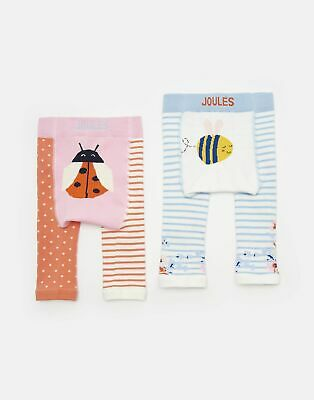 Joules Baby Girls Lively   Two Pack Character Leggings -  Size 12m-24m