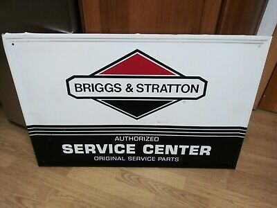 "Briggs and Stratton metal tack sign 24""x36"""