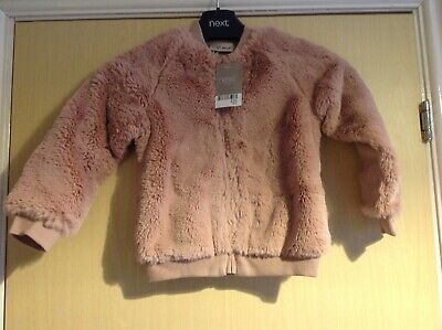 Kids blush pink soft fluffy jacket age 3 years from next
