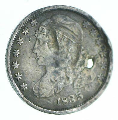 1835 Capped Bust Dime - Holed Coin Collection *997