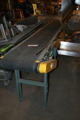 Hytrol Mild Steel Conveyor with Rubber Belt 7'X24""