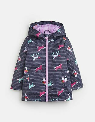 Joules 203923 Waterproof Rubber Coat - FRENCH NAVY SEA PONY Size 9yr-10yr
