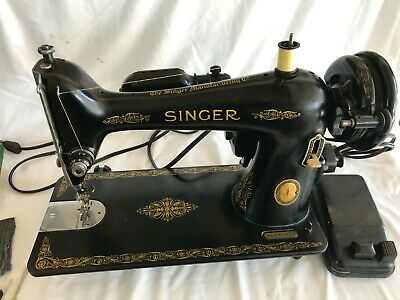 Very Nice 1953 Singer Sewing Machine Model 66 Serviced, Cleaned  + Accessories