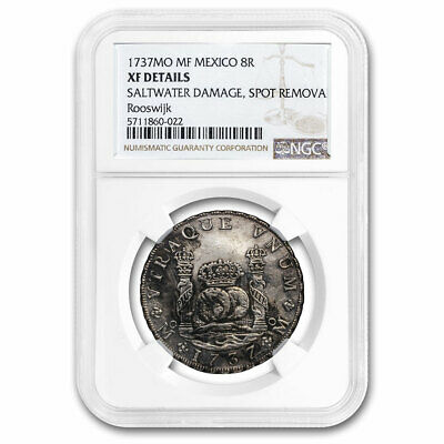 1737 Mo-MF Mexico AR 8 Reales XF Details NGC Rooswijk Shipwreck - SKU#213129