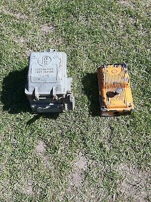 2 X Vintage Industrial Fuze Switches
