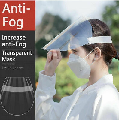 Set of (10)Antifog Face ShieldFull Protection CoverClear Face ProtectorReusable