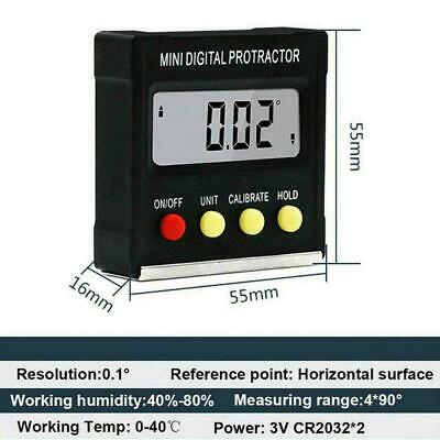 Cube Inclinometer Angle Gauge Meter Digital LCD Protractor Level Box Electr F5X6
