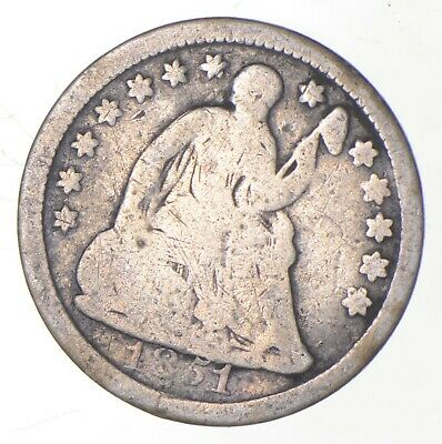 5c *1/2 Dime HALF* 1851 Seated Liberty Half Dime - Early American Type Coin *229