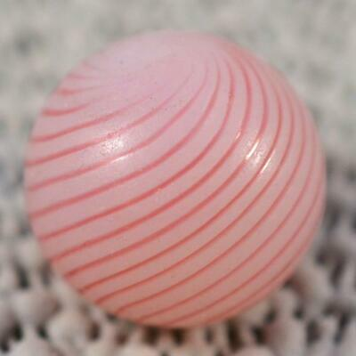 "ANTIQUE GERMAN CLAMBROTH MARBLE w/ 17 Pink Bands < 11/16"" (.679"")"