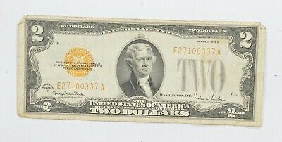 1928-G Red Seal $2.00 United States Note - Legal Tender - Historic *585