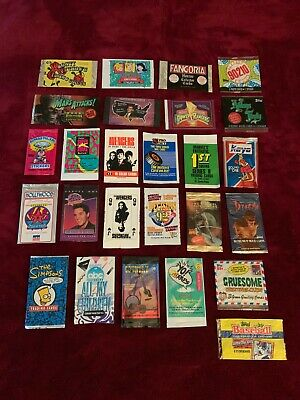Non Sport trading card wrappers Lot of 26 Celo and plastic wrappers