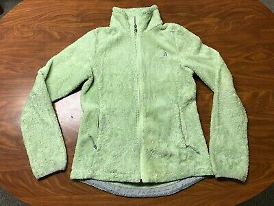 Womens Used The North Face Light Green Full Zip Soft Fleece Osito Jacket Size Xs