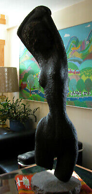 Huge CABOT LYFORD Carved Wood Nude SCULPTURE Maine NH Mid Century Modern Art 40""