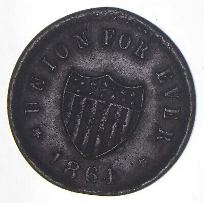 1864 Union For Ever Civil War Token - Charles Coin Collection *972