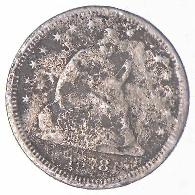 1878 Seated Liberty Quarter - Charles Coin Collection *921