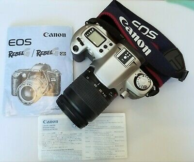Canon Rebel G EOS 35mm Film Camera w/Zoom Lens 28-80mm & Strap & 2 New Batteries